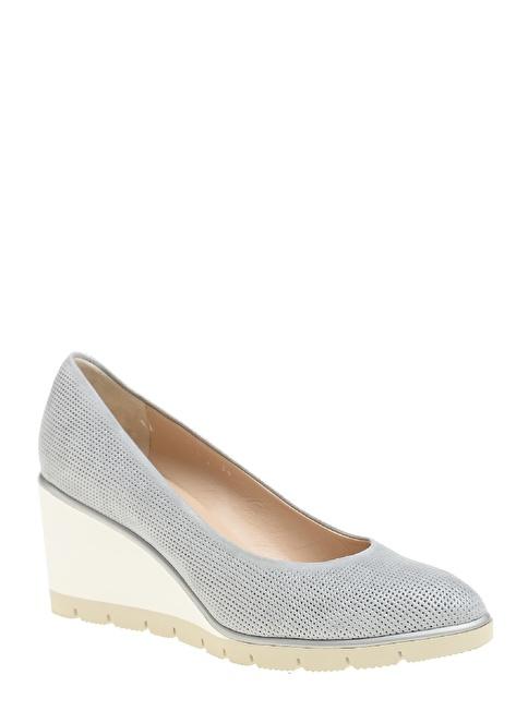 Divarese Dolgu Topuklu Ayakkabı Mavi